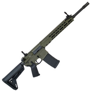 "Barrett REC7 AR-15 Semi Auto Rifle 5.56 NATO 16"" Barrel 30 Round Magazine Gas Piston System Enhanced M-LOK Hand Guard 6-Position Stock Cerakote OD Green Finish"