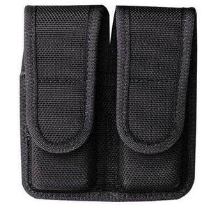 "Bianchi Model 7302 AccuMold Double Magazine Pouch 1911/Beretta 84/Sig Sauer P220/P225 2.25"" Belt Loops Velcro Closure Black 18441"
