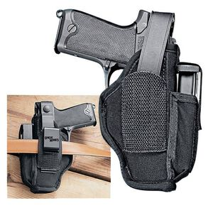 "Uncle Mike's Side Kick Belt Holster Ambidextrous Taurus Judge 3"" Barrel, S&W Governor Nylon Black MO70450"