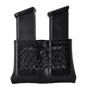 Safariland Model 079 Concealment Double Magazine Holder Snap-on Belt Mount Size Group 6 Ambidextrous Basket Weave Black 079-83-8-2