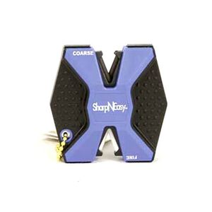 Accu-Sharp Sharp-N-Easy Knife Sharpener Keychain Ceramic Plastic Blue and Black 24 Pack