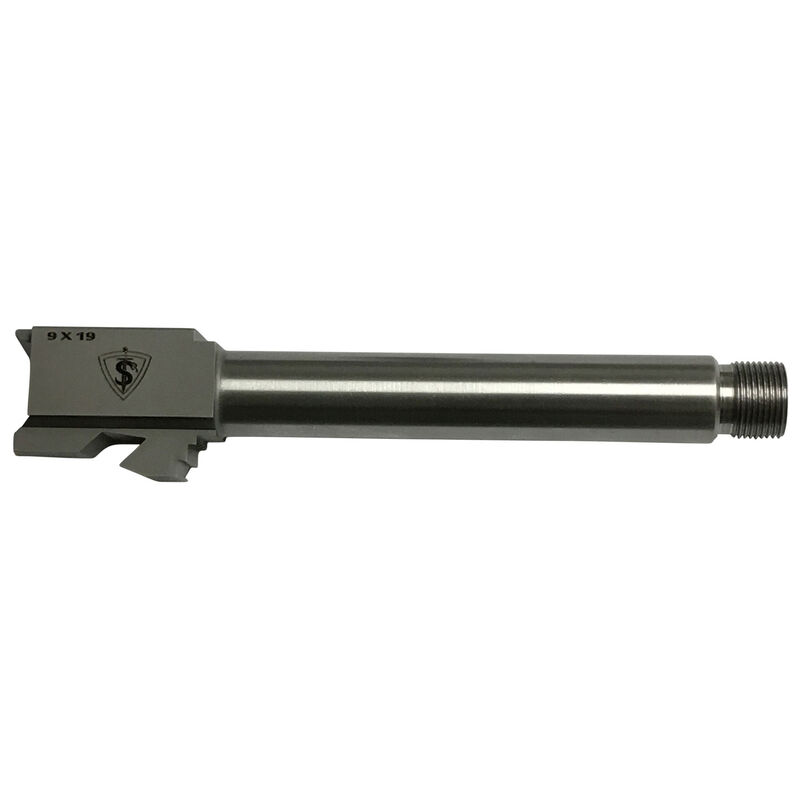 Tactical Superiority GLOCK 19 9mm Luger Drop In Replacement Threaded 1/2x28 Barrel 416R Stainless Steel Natural Finish