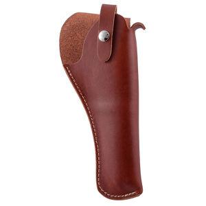 "Hunter Company Crossdraw Holster Belt Loop 6"" Medium and Large Frame DA Revolvers Leather Brown"