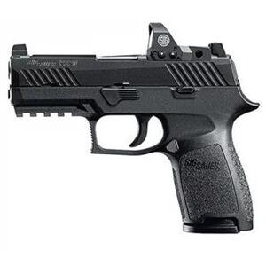 "SIG Sauer P320 Nitron Compact RX Semi Auto Pistol 9mm Luger 3.9"" Barrel 15 Rounds SIGLITE Sights Romeo1 Red Dot Reflex Sight SIG Rail Modular Polymer Frame/Grip Matte Black Finish"
