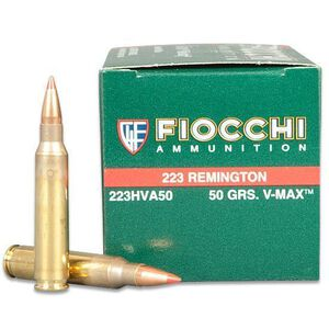 Fiocchi Extrema .223 Remington Ammunition 50 Grain Hornady V-Max Polymer Tip BT 3300 fps