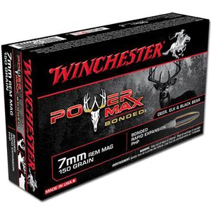 Winchester Power Max 7mm Rem Mag Ammunition 20 Rounds, PHP, 150 Grains