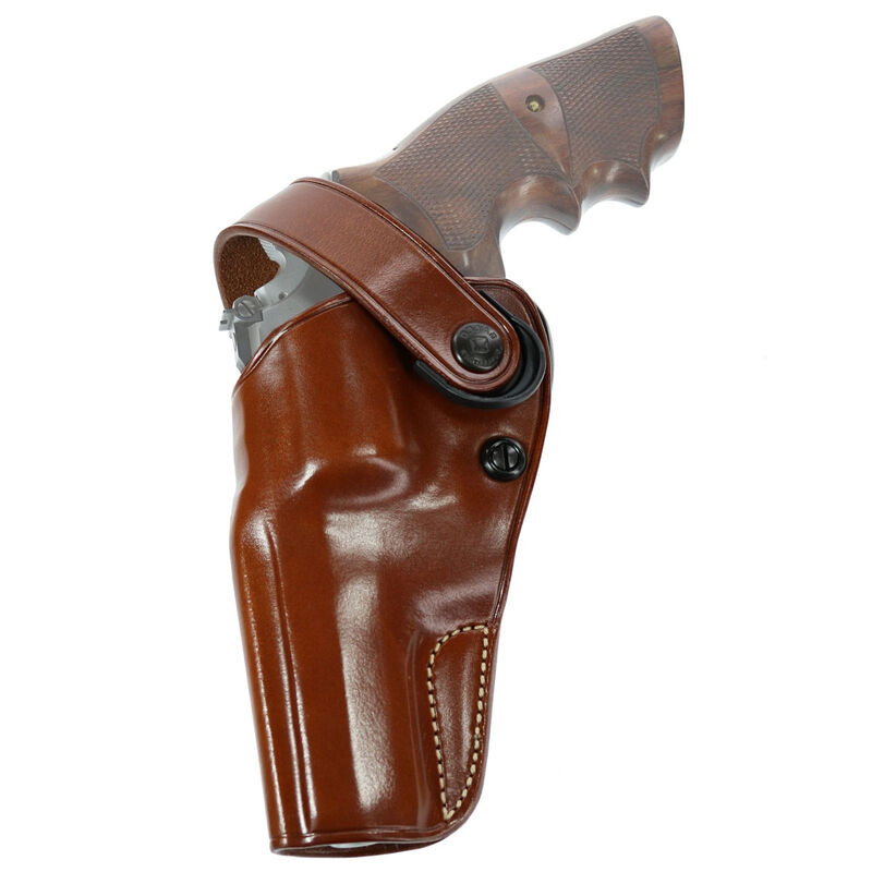 """Galco DAO Belt Holster Fits S&W K-Frame 4"""" Revolver and Similar Left Hand Leather Tan"""