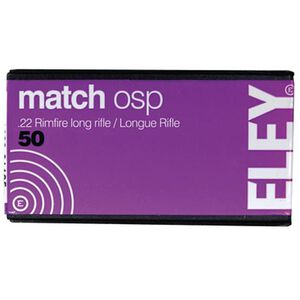 Eley Match OSP .22 LR 40 Grain RN 50 Round Box