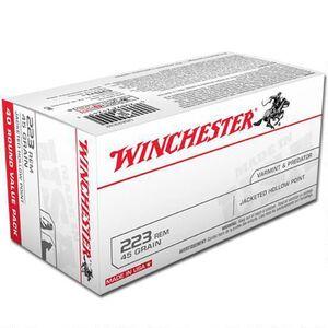 Winchester USA .223 Rem Ammunition 45 Grain JHP 3600 fps