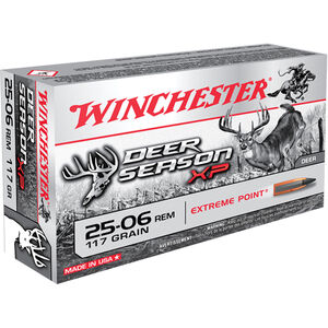 Winchester .25-06 Remington Ammunition 20 Rounds Deer Season XP PT 117 Grains