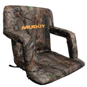 Muddy Outdoors Deluxe Stadium Chair Bucket Chair 18x14 inch Camo
