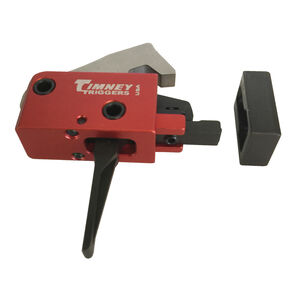 Timney Trigger SIG Sauer MPX Drop In Replacement Trigger Two-Stage Straight Trigger Shoe Aluminum Housing Red Finish