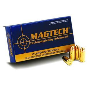 Ammo 9mm Magtech Sport Shooting FMJ 124 Grain 50 Round Box 1109 fps MT9B