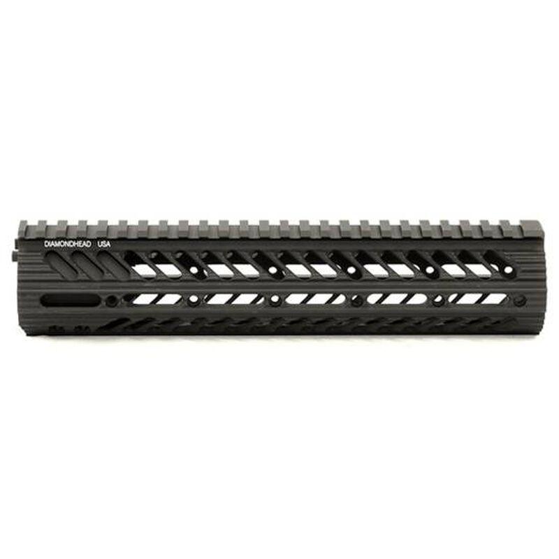 "Diamondhead VRS X Free Floating Handguard 10.5"" Threaded Rail Aluminum Black 2111"