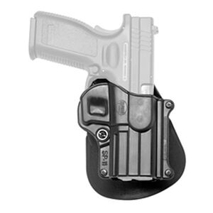 Fobus Standard Series Paddle Holster Left Hand Fits Springfield XD/XD(M) H&K P2000 and Similar Passive Retention Polymer Matte Black