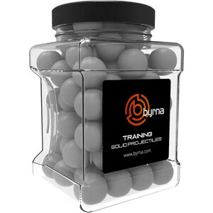 Byrna Kinetic Training Projectiles Fits Byrna Launcher .68 Caliber Solid Plastic White
