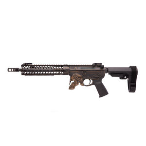 "Spikes Rare Breed Spartan AR-15 5.56 NATO Semi Auto Pistol 11.5"" Barrel Milled Spartan Helmet Lower 12"" M-LOK Hand Guard SBA3 Brace Bronze Battle Worn Finish"