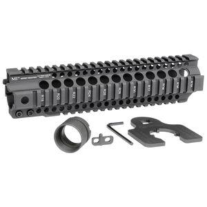 "Midwest Industries AR-15 Combat Rail T-Series 10"" One Piece Free Float Hand Guard 6061 Aluminum Hard Coat Anodized Matte Black Finish"