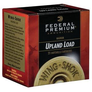 """Federal Wing Shok Magnum Upland Load 20 Gauge Ammunition 2-3/4"""" #4 Copper Plated Lead Shot 1-1/8 Ounce 1175 fps"""