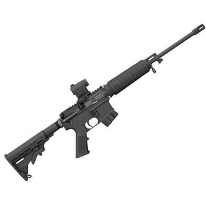 "Bushmaster QRC AR-15 Semi Auto Rifle 5.56 NATO 16"" Light Barrel 10 Rounds Collapsible Stock Red Dot Optic Black"