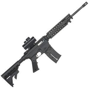 "Mossberg 715 Tactical Semi Auto Rifle .22 LR 16.25"" Barrel 25 Rounds Red Dot Sight Flat Top Upper Quad Rail Adjustable Stock Black Finish 37234"