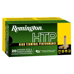 Remington HTP .38 Special +P Ammunition 20 Rounds 158 Grain LHP 890 fps