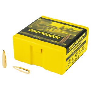 """Berger VLD Target 6mm Cal .243"""" Bullets 95 Grain Boat Tail Hollow Point 100 Count"""