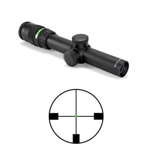 Trijicon AccuPoint 1-4x24 Riflescope German #4 Crosshair with Green Dot, 30mm Tube