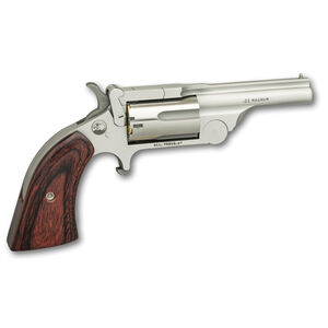 """North American Arms Ranger Break Top II .22 WRM Single Action Revolver 2.5"""" Barrel 5 Rounds Rosewood Boot Grip Stainless Bead Blast Finish"""