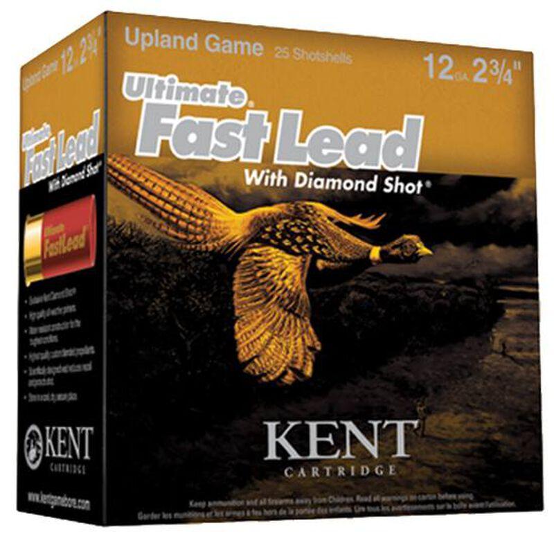 "Ammo 12 Gauge Kent Cartridge Ultimate Fast Lead 2-3/4"" #5 Lead 1-3/8 Ounce 25 Round Box 1475 fps K122UFL40-5"
