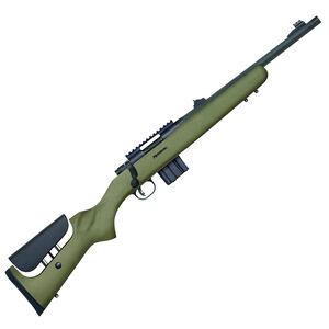 "Mossberg MVP LR Tactical Bolt Action Rifle 5.56 NATO 16.25"" Medium Bull Barrel 10 Rounds Green Adjustable Comb Stock Matte Blued 27698"