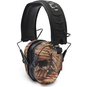 Walkers Razor Right To Bear Arms Electronic Earmuff Slim Over Ear Protection USA Flag
