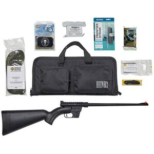 "Henry US Survival AR-7 Rifle/Combo Pack Semi Auto Rifle .22 Long Rifle 16"" Barrel 8 Rounds Complete Case/Survival Accessories Matte Black Finish"