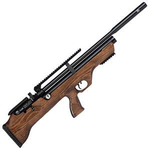 "Hatsan FlashPup QE .25 Caliber PCP Air Rifle 17.7"" Barrel 870 fps 10 Shot Walnut Bullpup Stock Black Finish"