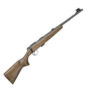 "CZ-USA 455 Scout .22 LR Bolt Action Rifle Single Shot 16.5"" Barrel 1/2x28 Threaded Muzzle Beechwood Stock Natural Finish"