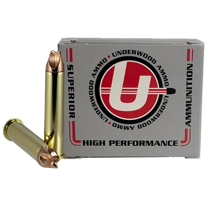 Underwood Ammo .45-70 Govt +P Ammunition 20 Round Box 225 Grain Xtreme Hunter Solid Copper 2735 fps