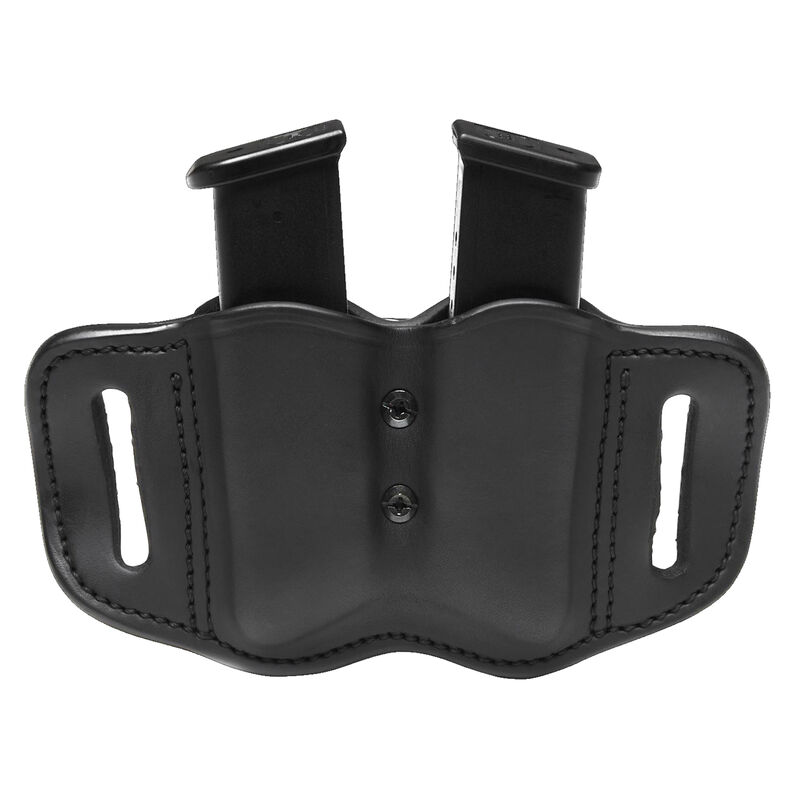 1791 Gunleather Double Stacked Polymer Magazine Double Magazine Pouch 2.2 OWB Ambidextrous Leather Black
