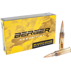 Berger .308 Winchester Ammunition 20 Rounds 175 Grain Berger Hybrid OTM Tactical Projectile 2668 fps