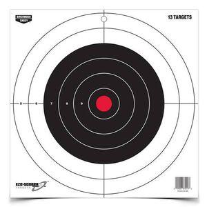 """Birchwood Casey Eze-Scorer 12"""" Bull's Eye Paper Target Indoor/Outdoor White Background 13 Pack 37013"""