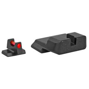 Trijicon Fiber Optic Sight Set Fits S&W M&P/M&P M2.0/SD Series Red Fiber Front/Blacked Out Rear Steel Housing Matte Black Finish