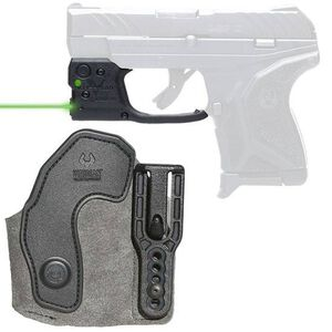Viridian Reactor 5 Gen 2 Green Laser Sight with ECR Ruger LCP II with Ambidextrous IWB Instant-On Holster Polymer Housing Matte Black Finish