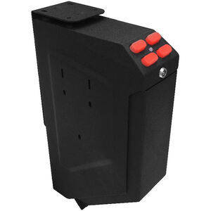"Sports Afield Lightning Vault 1 Handgun 7.4""x3.5""x13.6"" Vertical Wall Mount Padded Interior Red LED Illuminated Electronic Lock Black"