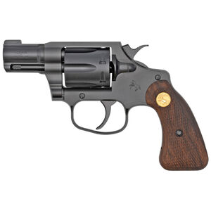 "Colt Cobra Special .38 Special +P Revolver 2"" Barrel 6 Rounds Brass Bead Front Sight Retro Wood Grips PVD Black Finish"