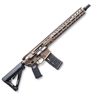 "Radian Weapons System Model 1 AR-15 Semi-Auto Rifle .223 Wylde 14.5"" Barrel 16"" OAL 30 Rounds Billet Upper/Lower SilencerCo ASR Muzzle Device Free Float M-LOK Hand Guard Brown Finish"