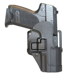 BLACKHAWK! SERPA CQC Belt/Paddle Holster H&K P2000/USP Compact 9/40 Left Hand Polymer Black 410509BK-L