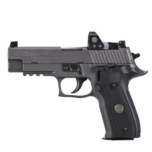 "SIG Sauer P226 Legion RX Semi Auto Pistol 9mm Luger 4.4"" Barrel 10 Rounds X-Ray Sights/ROMEO1 Reflex Sight SIG Rail Black G10 Grips Stainless Steel Slide/Alloy Frame PVD Gray Finish"