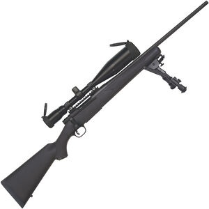 """Mossberg Patriot Night Train Bolt Action Rifle .308 Win 22"""" Fluted Barrel 5 Rounds 4-16x50mm Scope Black Synthetic Stock Matte Blue Finish"""