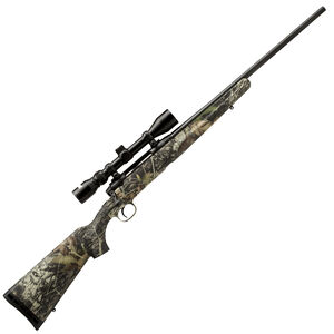 "Savage Axis XP Camo Bolt Action Rifle .22-250 Remington 22"" Barrel 4 Rounds Detachable Box Magazine Weaver 3-9x40 Riflescope Synthetic Stock Mossy Oak Break Up Country Finish"