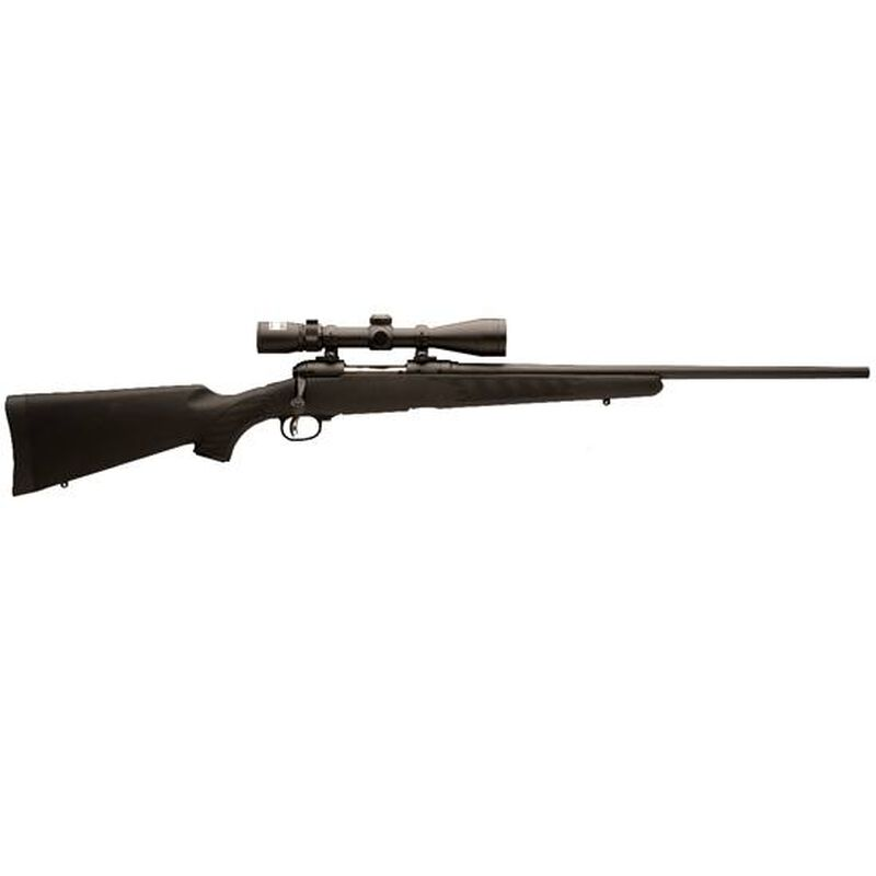 """Savage Model 111 Trophy Hunter XP Bolt Action Rifle 6.5x284 NORMA 24"""" Barrel 4 Rounds AccuTrigger Synthetic Stock Matte Black Finish Nikon 3-9x40 Scope 19688"""