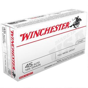 Winchester USA .45 ACP Ammunition 185 Grain FMJ 910 fps